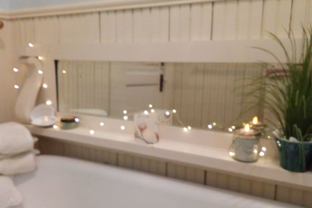 Relax in your private bathroom after traveling or working