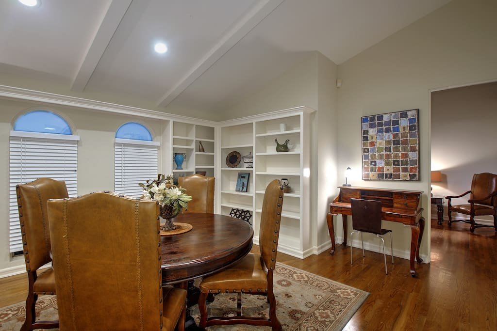 Beautifully furnished with solid hardwood floors.