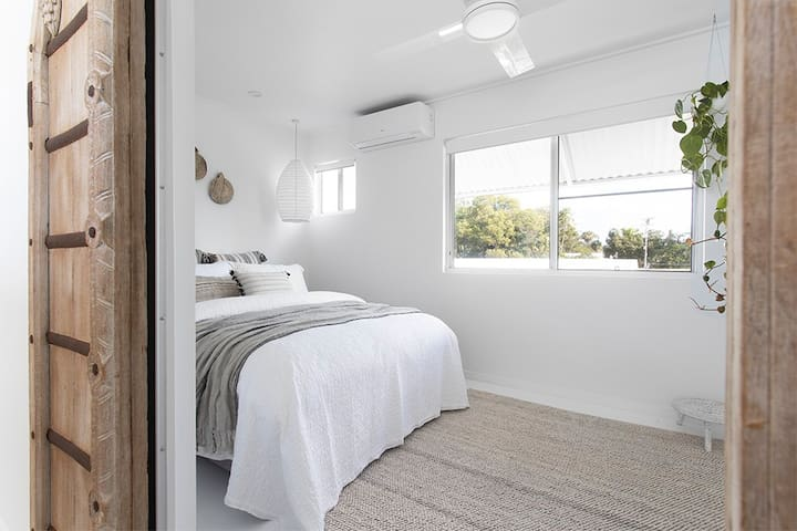 Super comfy beds throughout for those lazy holiday sleep-ins including Bedroom 2 here with Queen size bed