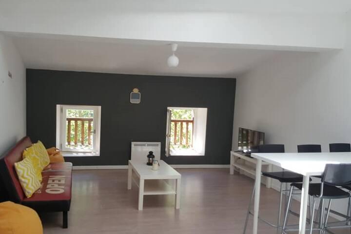 Appartement 1 chambre et 1 mezzanine