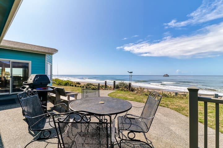 The Beach House  - with a fenced yard, furnished patios & steps from the beach!