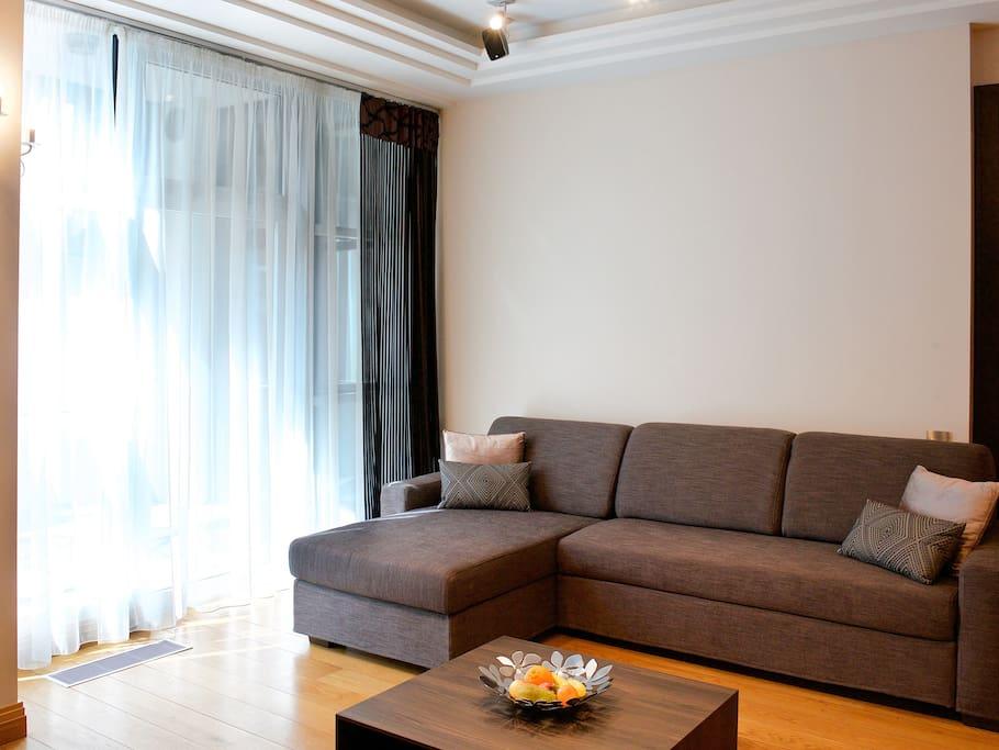 Гостинная с раскладным диваном