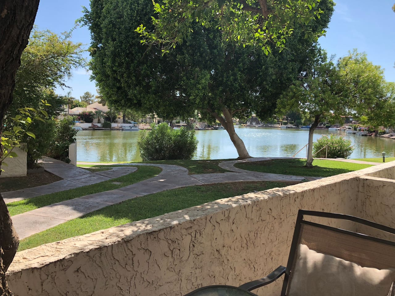 Beautiful lakeview from the patio and living area