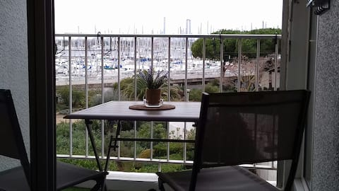 vue terrasse parking piscine wifi