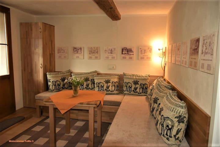 Lehmhof Lindig (Lindig) - LOH06548, Ferienwohnung 3, 64qm, 2 Balkone, 2 Schlafzimmer, max. 4 Personen