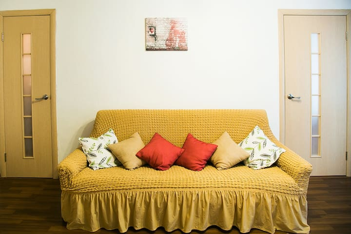 Sunny 2-room apartment in the center of Perm
