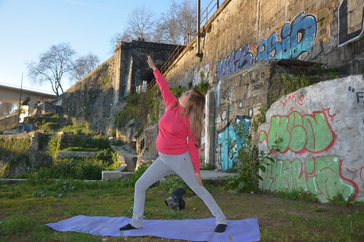 Porto Yoga in the Ruins by the Douro.