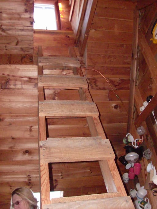 Ladder Up to the Cupula room - Which Looks across Maine