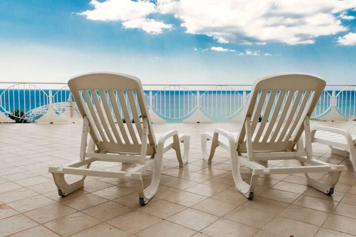 la terrazza sul mare ( camera 1) - Scavuzzo - Byt