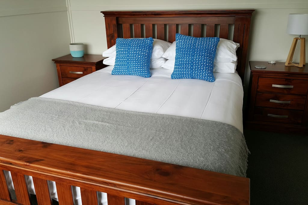 Cottage bedroom one. Queen size comfortable bed. 1000 thread count linen.