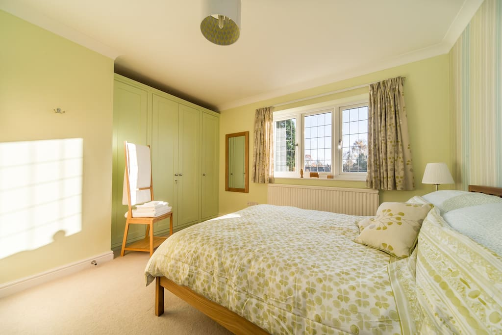 Lemon Balm bedroom - South facing so light and bright. Overlooking countryside.