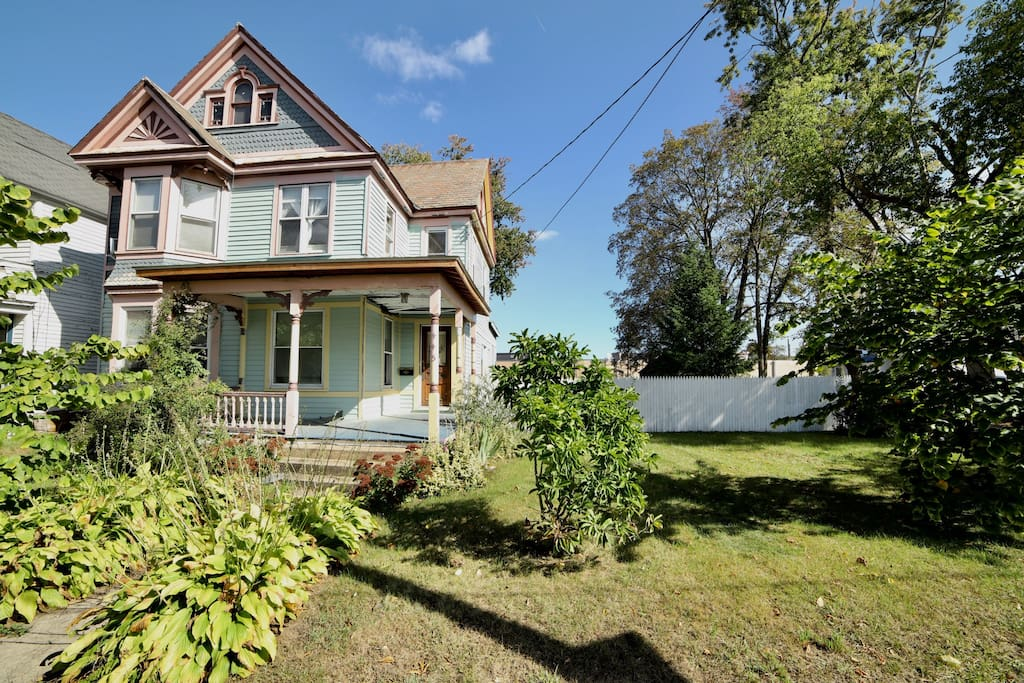 Quaint Victorian Cottage in the middle of Schenectady with large fenced in yard and off street parking. Large window is bedroom has a great view of the side yard. We are currently repainting the outside of the house.