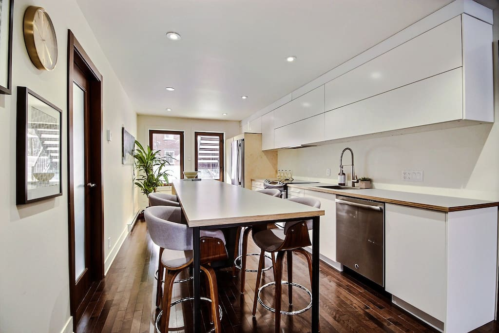 Enough countertop to cook a lovely meal for your guests!