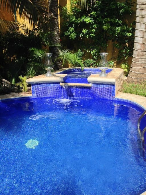 Alberca y jacuzzi / Swimming pool and jacuzzi.