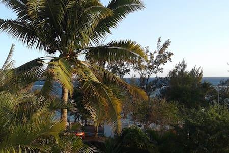 Chambre + sdb privative à  50 m du lagon - Villa