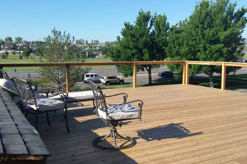Partial view of the 900 sq ft. deck.