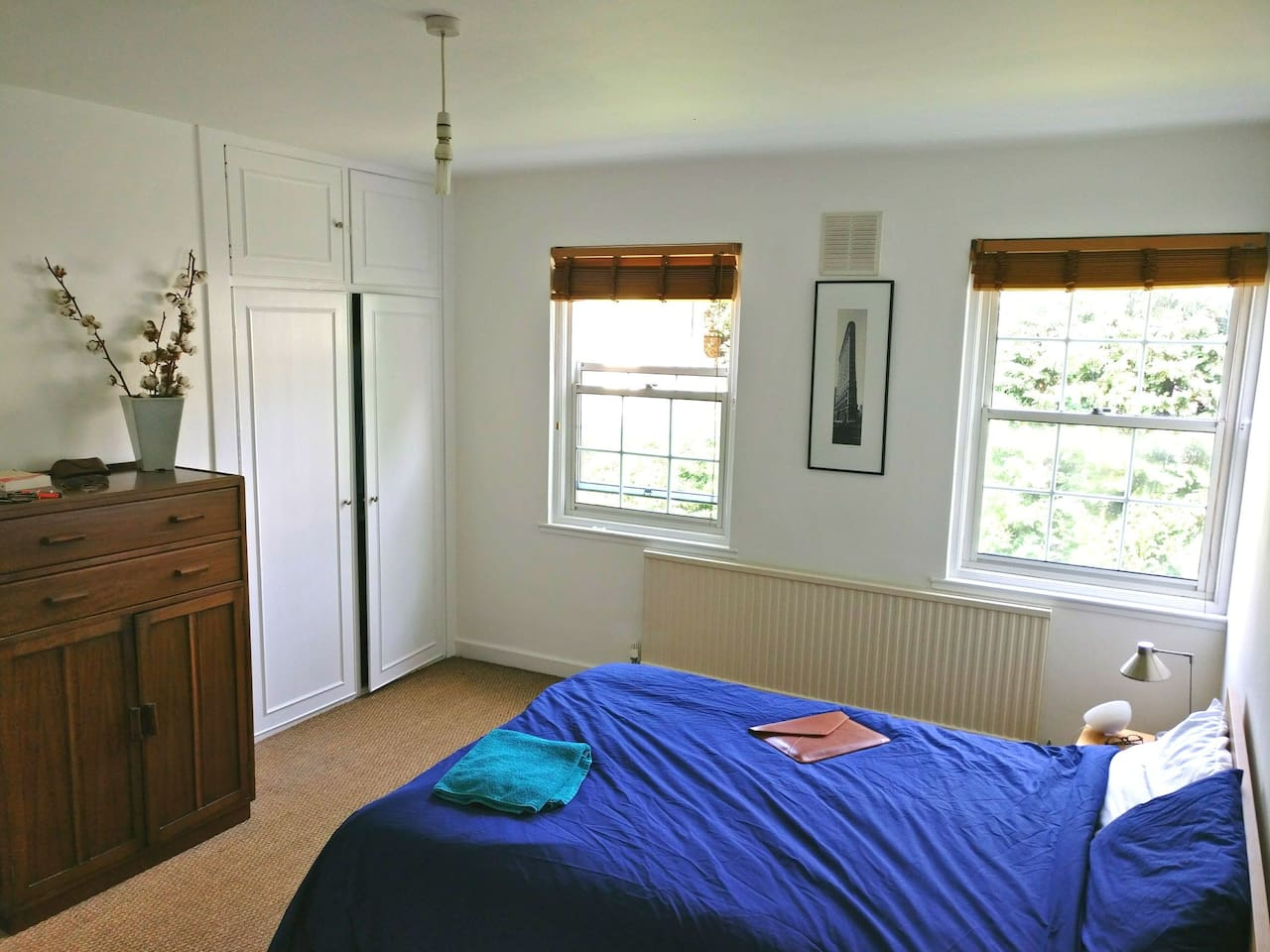Large double bedroom with private ensuite (toilets. sink and shower)- bigger than it looks!