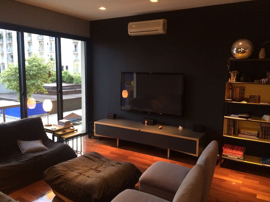 Fully equipped home system and comfortable living room