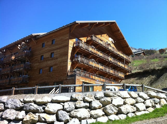 104/Appart Vars Ste Marie 4pers/1e vue montagne - Vars - Wohnung