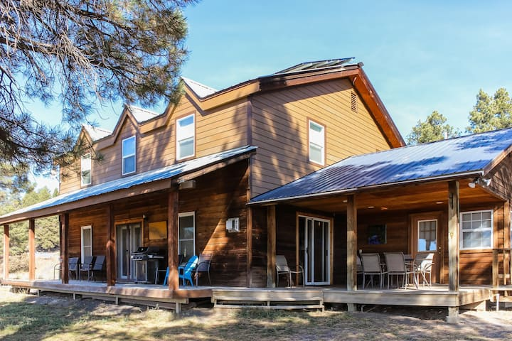 Secluded cabin w/ gas fireplace & mountain views - dogs welcome!