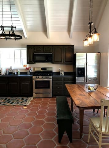 Huge farmhouse kitchen!