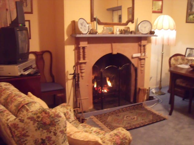 Front Sitting Room. open fire can be used if no small children present for a Fee of $10 per night.