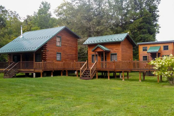 NEW! Cabin w/FirePit & Trout-Stocked Creek On-site