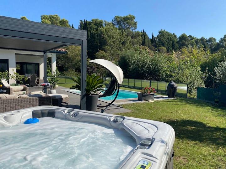 La villa del sol piscine et jacuzzi   privée