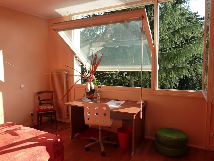 chambre lumineuse calme spacieuse avec vue appartements louer chamb ry rh ne alpes france. Black Bedroom Furniture Sets. Home Design Ideas