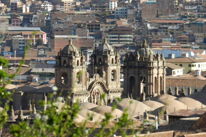 from panorama Chatedral plaza de Armas photo zoom