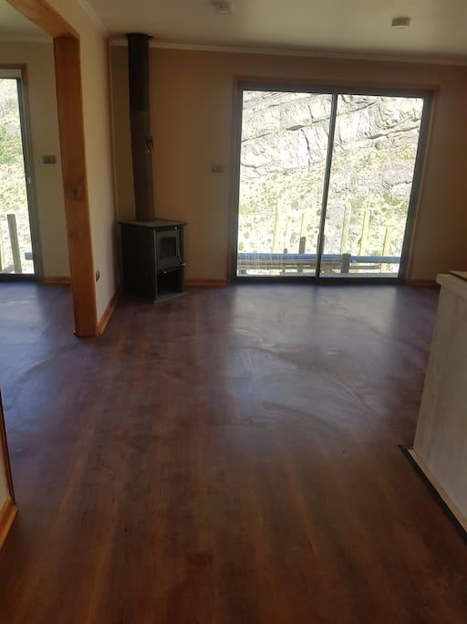 todas la cabaña con piso flotante