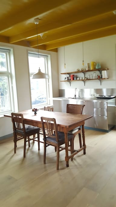 Kitchen and eating table