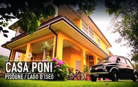 CASA PONI /casa vacanza lago D'Iseo Pisogne.