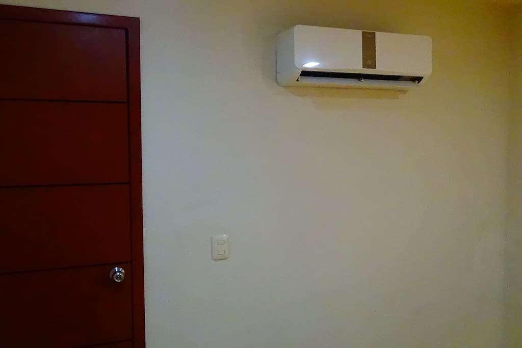 bedroom is air-conditioned