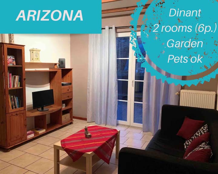 DINANT Superb flat 2 bedrooms, garden (pets ok)