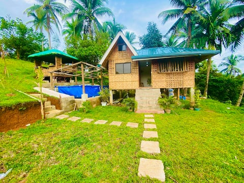 NEW Private Cabin-POOL,mt.banahaw view near lake