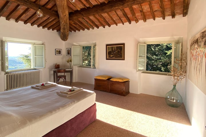 Beautiful suite with views of the hills of Lucca