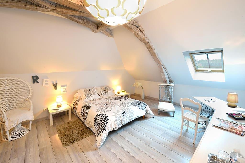 Chambre cosy située au second étage...