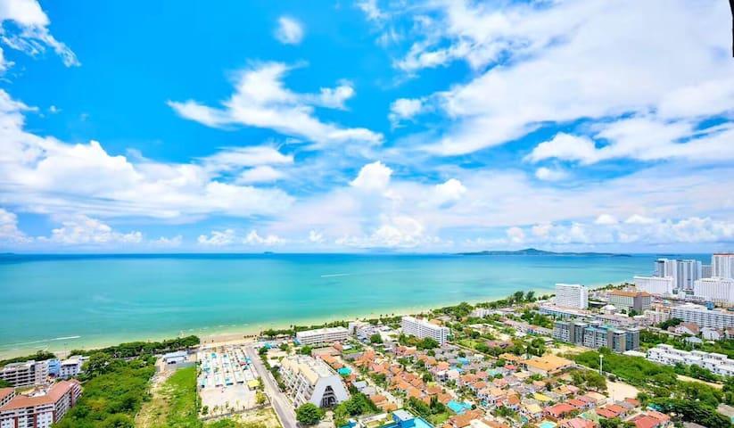无敌海景度假一居室(可提供接送机和票务服务VX:g92-0403)距离海边300米