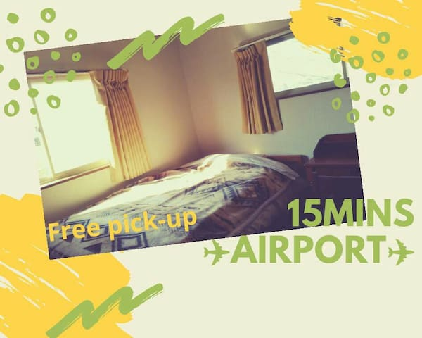Airport15min,3-4bed,calm,shared room,Women,Vegan