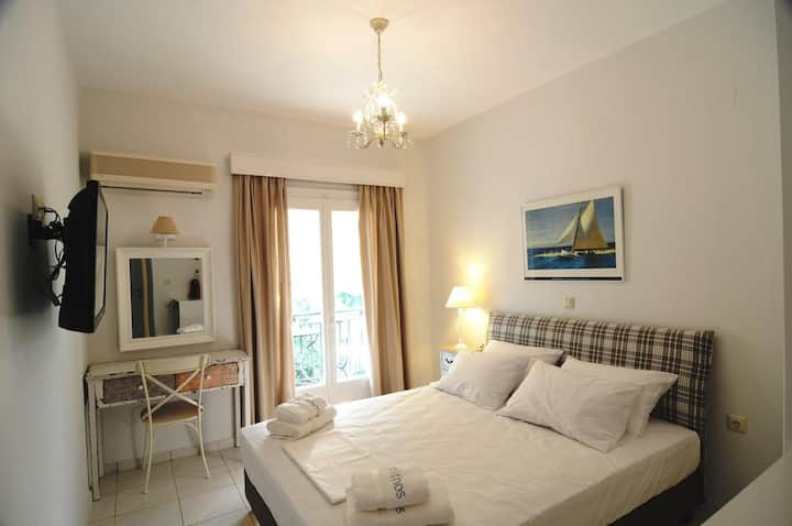 Arolithos-Double Room with Side Sea View