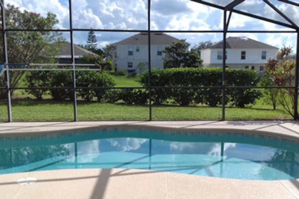 Solar heated pool Not overlooked