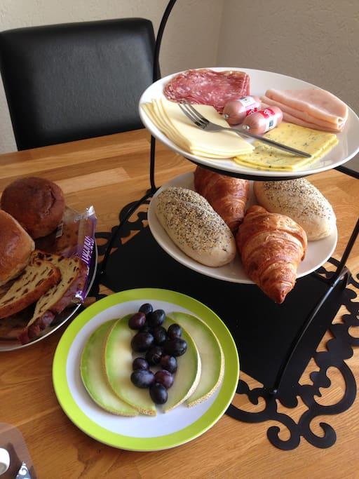 Een impressie van het ontbijt.