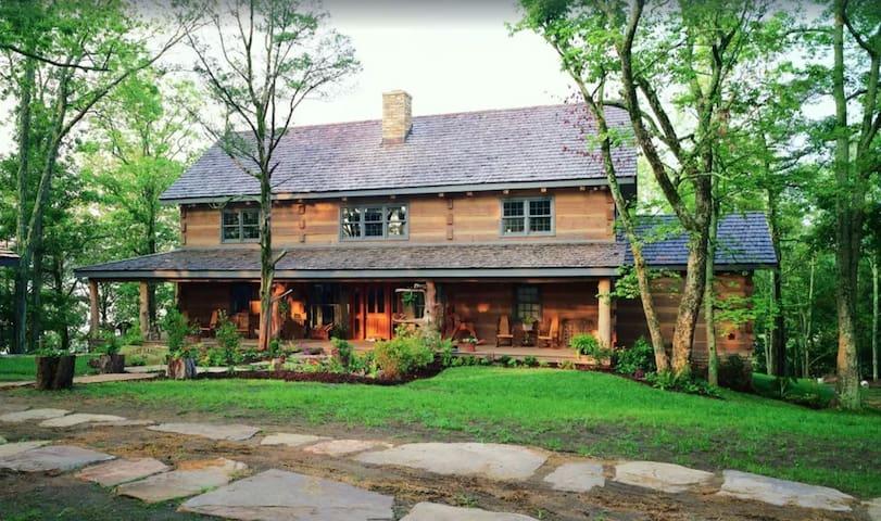Luxury Log Lodge. Douglas Lake estate. 40 acres