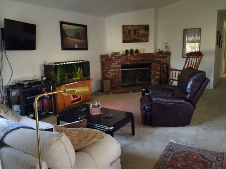 Living Room and Aquarium