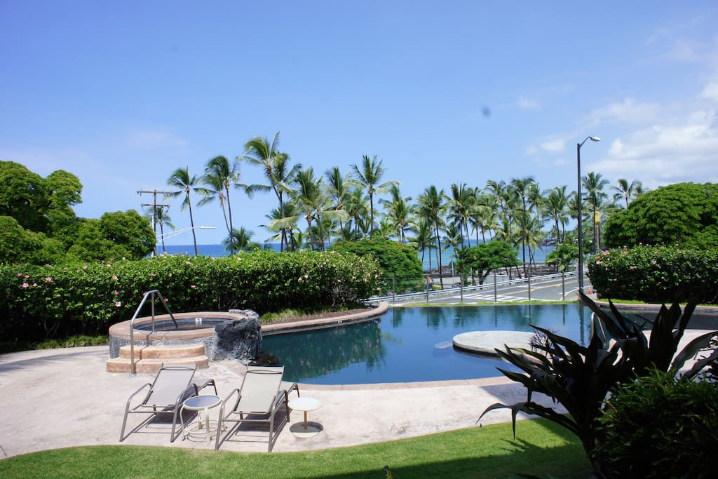 View From Lanai of Pool