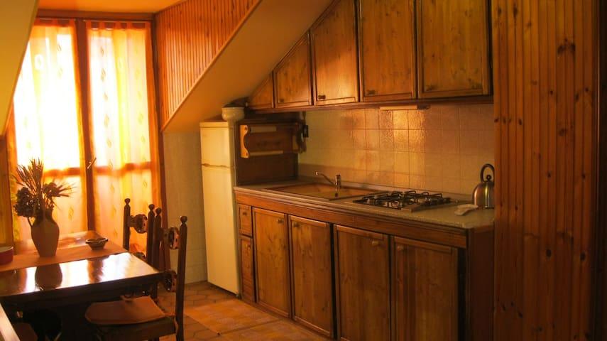 Appartamento mansardato in casa indipendente