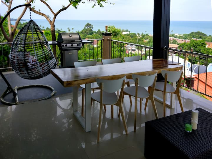 Villa Aurora with panoramic sea view 2 bedrooms