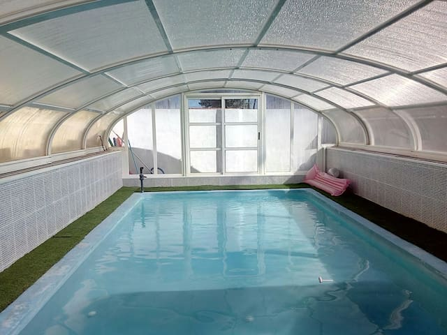 Casa Solar:heated covered pool,well equipped home