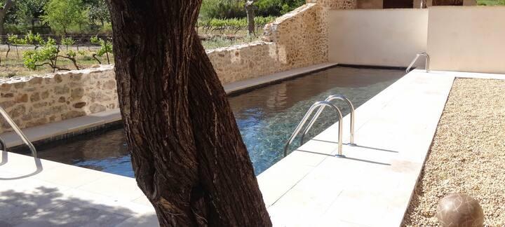 Maison de caractère vue sur vignes et piscine